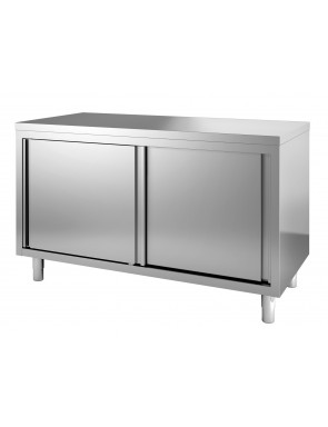 Work cabinet with sliding doors