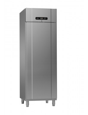 Refrigerator GRAM 1 door made of stainless steel, normal cooling