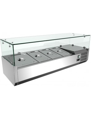 Pizza cooler display case 7x GN 1/4 (150H mm)