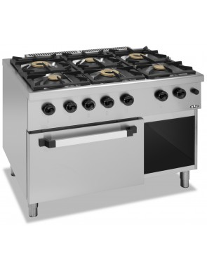 6 burner with gas stove GN...