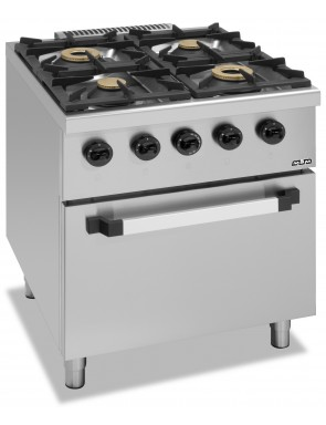 4 burner stove with gas...