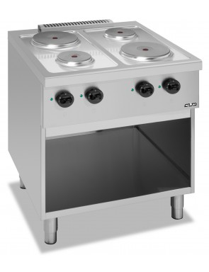 4 plate stove with open...