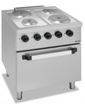 4 plate stove with electric...