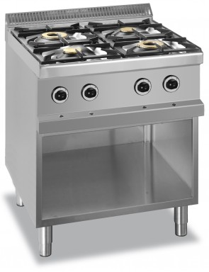 4 burner with open base