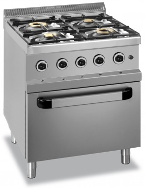 4 burner stove with gas oven
