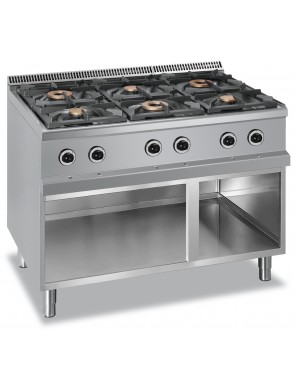6 burner with open base