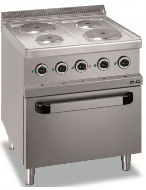 4 hot plates with electric...