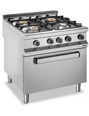 4 burners stove with an...