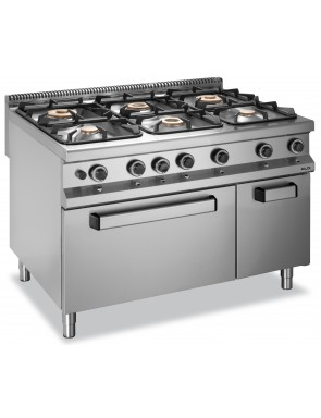 6 burner electric oven and...