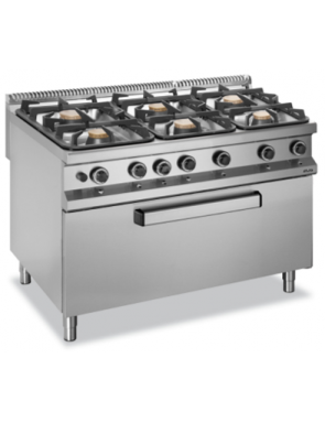 6 flame gas oven MAXI
