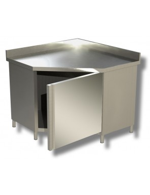 Work cabinet with upstand,...