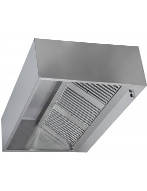 Box hood wall version without motor, with lighting 3000 x 900 x 450H mm