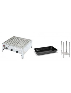 Combi gas grill roaster table