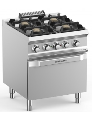 Gas stove with an electric...