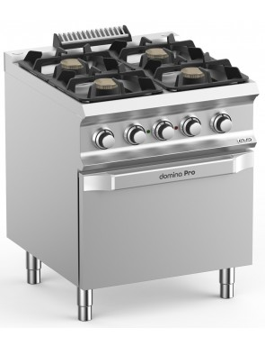 Gas stove with electric...