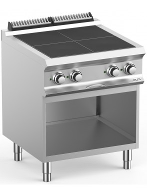 Electric stove with base,...