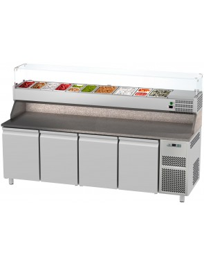 Pizza cooling table with 3...