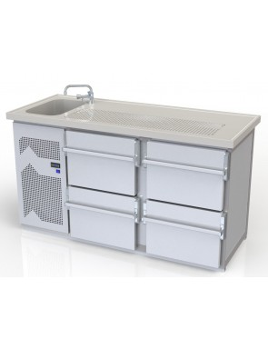 1 basin + 2 double drawer...