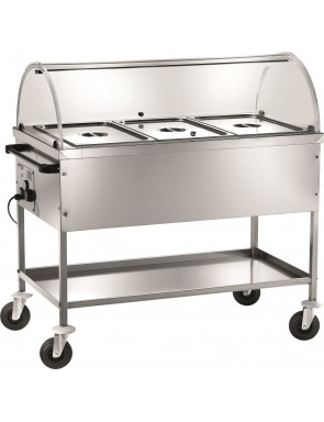 Bain-marie heated trolleys