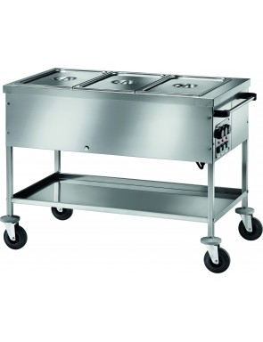 Bain-marie heated trolleys...
