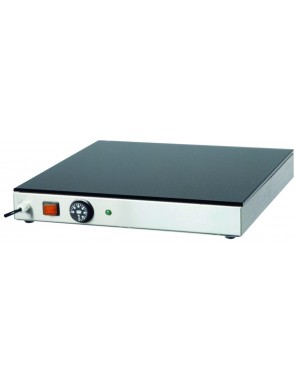 Heating plate with glass surface