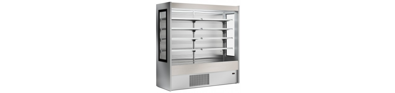 Cooling shelves for cold cuts, cheese, fruit and vegetables, take-away and soft drinks
