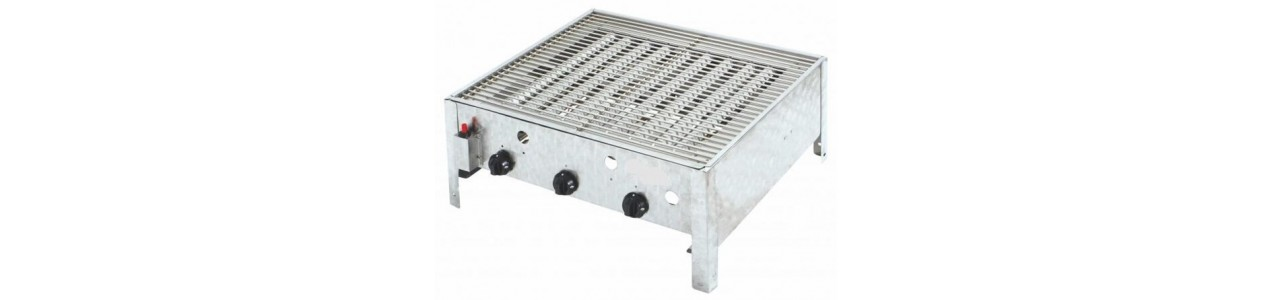 Combi gas grill roaster, tabletop unit